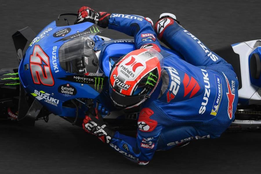 MotoGP, Alex Rins e Suzuki sugli scudi nel warm up del GP di San Marino, ma Quartararo e le Ducati sono in scia, 19° Valentino Rossi