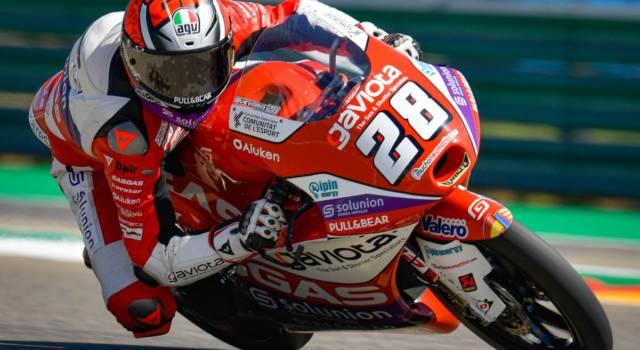Moto3, risultati warm-up GP Aragon 2021: Izan Guevara emerge dopo la nebbia, 3° Antonelli, 5° Migno