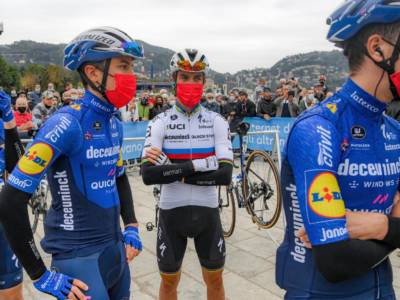 """Giro di Lombardia 2021, Davide Bramati: """"Alaphilippe felice per Masnada"""""""