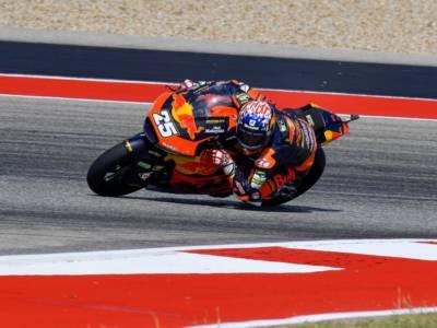 Moto2, Raul Fernandez svetta anche in FP3 sul giro secco ad Austin. Ottimo 3° Di Giannantonio, 8° Bezzecchi