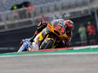 Moto2, risultati FP1 GP Emilia Romagna 2021: Augusto Fernandez svetta nella pioggia, 2° Bulega, 4° Arbolino, 5° Vietti
