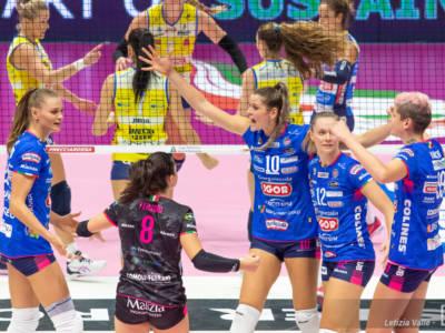 Volley, serie A1 femminile 3. giornata. E' ancora Conegliano-Novara: secondo round della sfida infinita