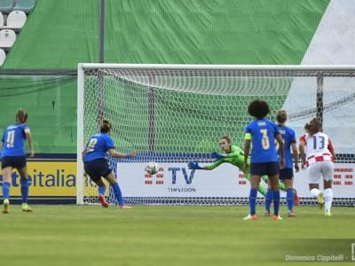Calcio femminile, tris dell'Italia contro la Croazia. Azzurre a punteggio pieno nelle qualificazioni mondiali