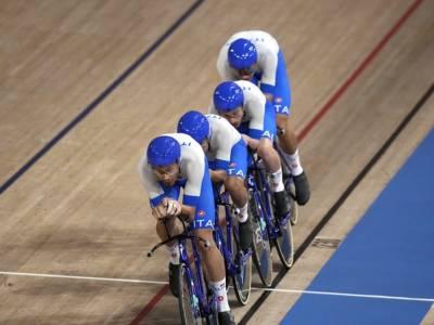 Ciclismo su pista, l'Italia schianta la Gran Bretagna! Ganna e il quartetto in finale per l'oro ai Mondiali!