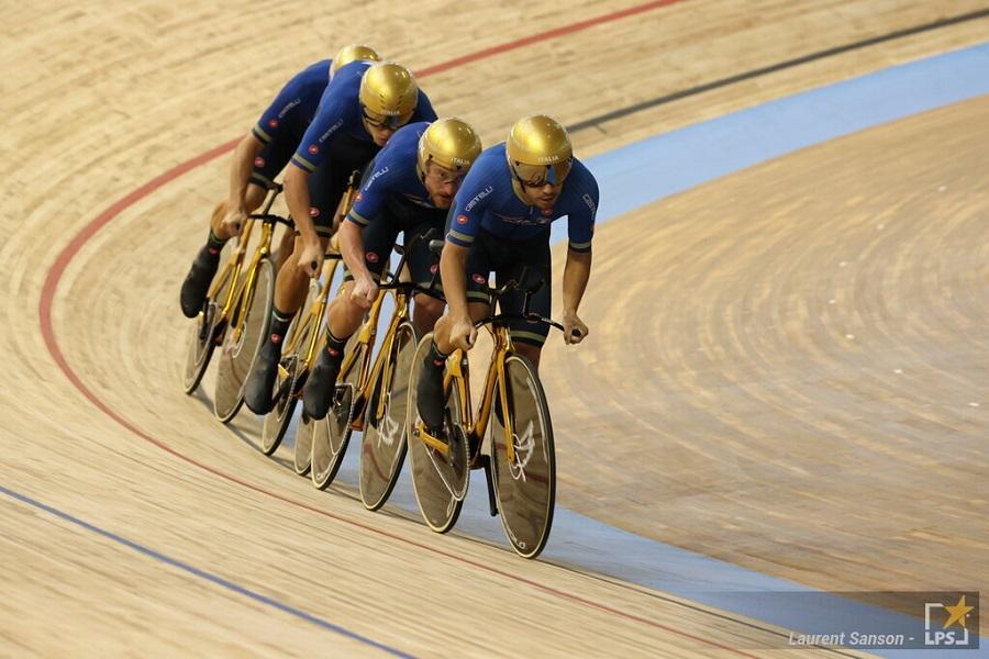 Medagliere Mondiali ciclismo su pista 2021: Italia in testa al medagliere con l'oro dell'inseguimento a squadre maschile