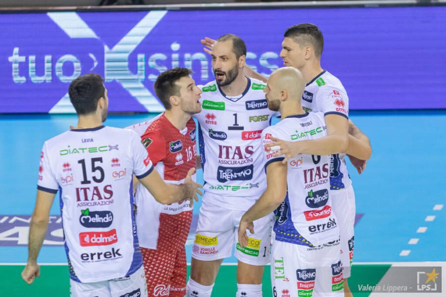 Volley, Trento vince la Supercoppa Italiana: terzo sigillo, Monza si arrende in finale