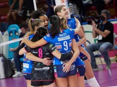 Volley femminile, Serie A1: Conegliano vince a Roma, Novara e Busto Arsizio rispondono. Egonu 18, Stysiak 28